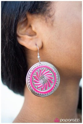 A Hop Skip and a Jump Pink - Paparazzi earrings
