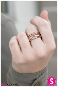 A Narrow Escape - Copper - Paparazzi ring