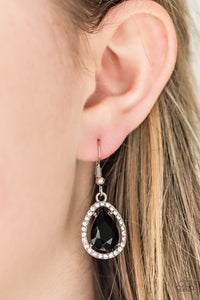 A One GLAM Show - black - Paparazzi earrings