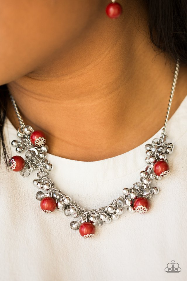 A Pop of Posh - red - Paparazzi necklace