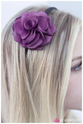 A Rose is a Rose - purple - Paparazzi headband