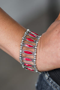 A Self Made Glam - red - Paparazzi bracelet