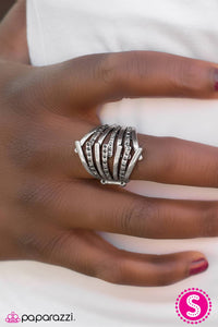 A Stitch In Time - Silver - Paparazzi ring