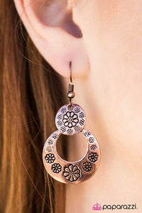 A Walk Through The Flowers - Copper - Paparazzi earrings