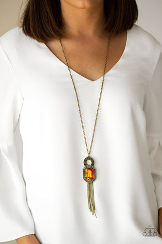 A Good Talisman Is Hard To Find-orange-Paparazzi necklace