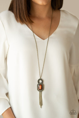 A Good Talisman Is Hard to Find-brown-Paparazzi necklace