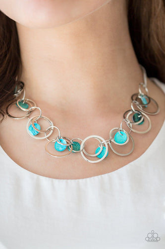 A Hot Shell-er - blue - Paparazzi necklace