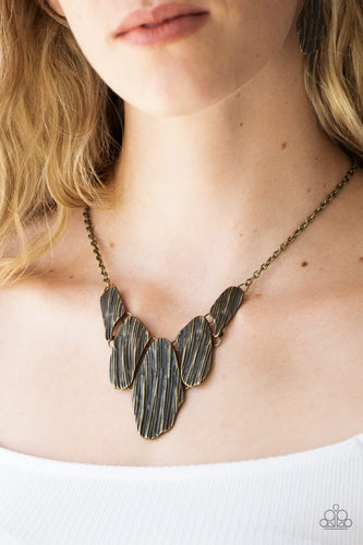 A New Discovery - brass - Paparazzi necklace
