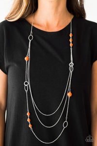 Absolutely It! - Orange - Paparazzi necklace