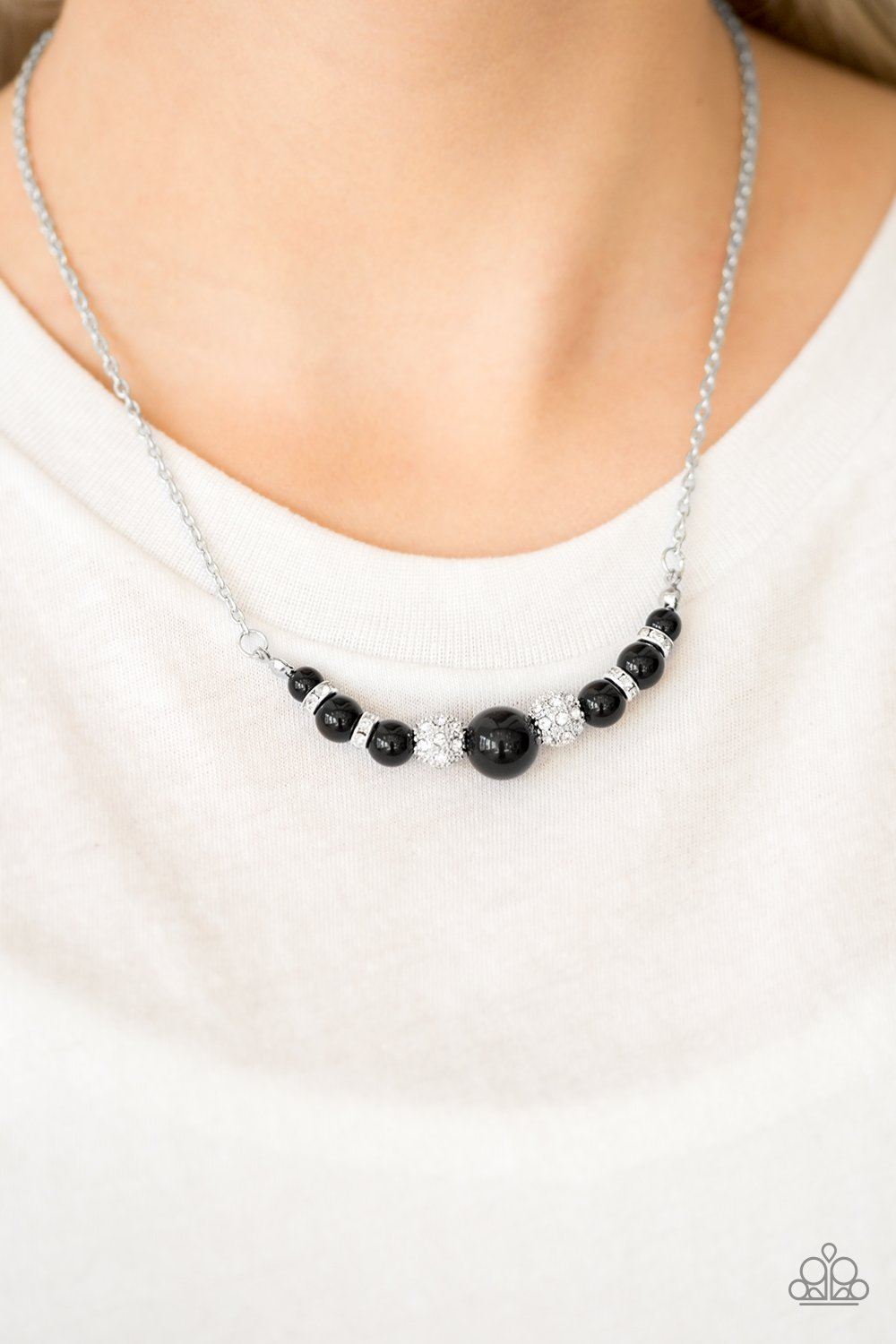 Absolutely Brilliant-black-Paparazzi necklace