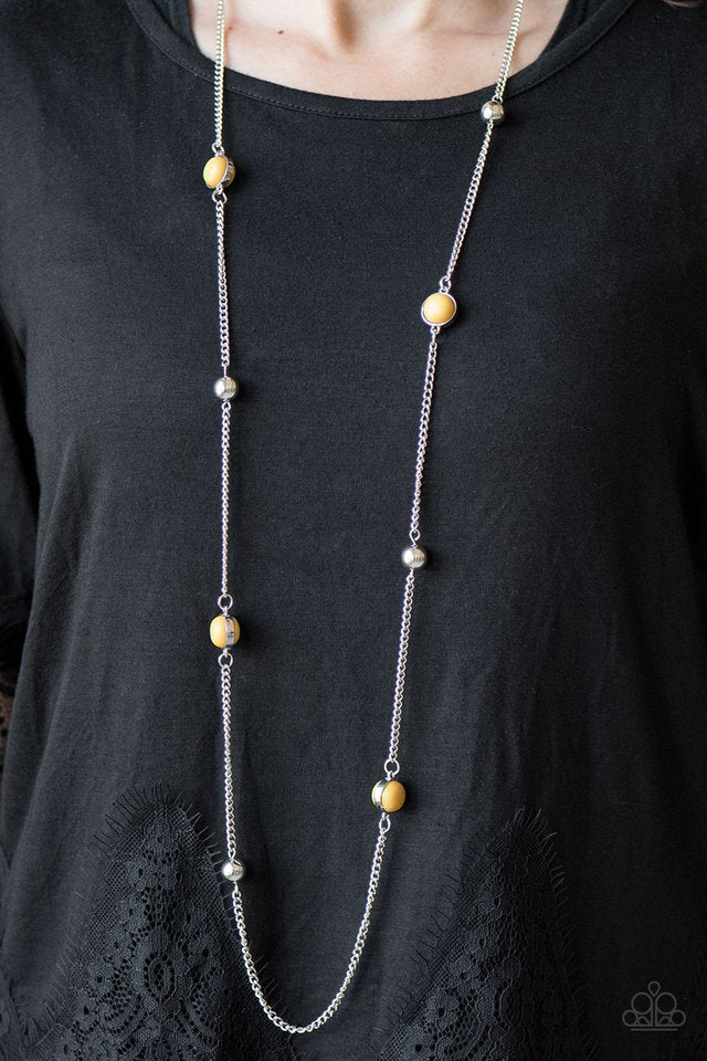 Accentuate The Positives - Yellow - Paparazzi necklace