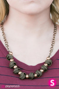 Addicted to Love - Brass- Paparazzi necklace