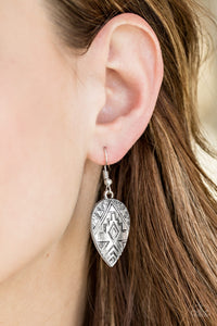 Adobe Adornment - silver - Paparazzi earrings