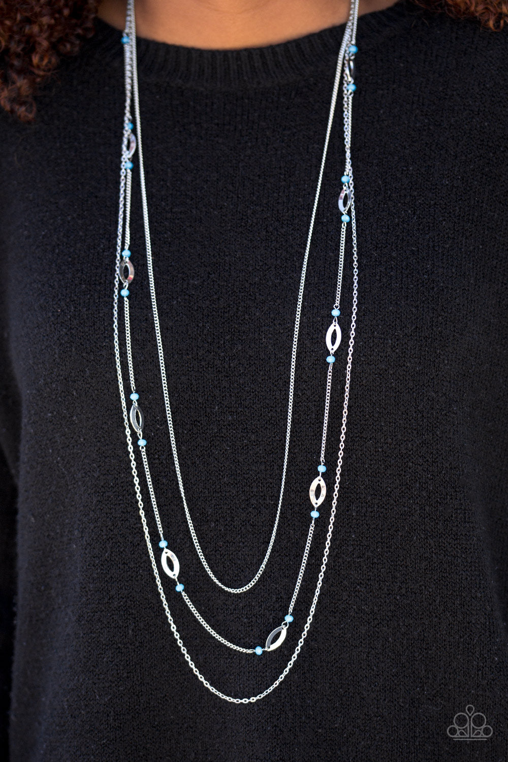 Afternoon Glow - blue - Paparazzi necklace