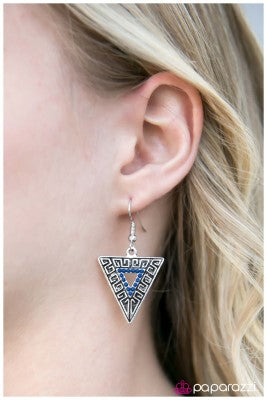 Age Of Discovery - Blue -Paparazzi earrings