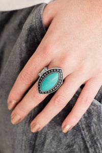 Aiming for Amazon - blue - Paparazzi ring