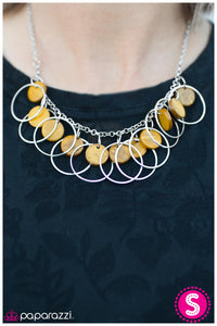 All Caught Up - yellow - Paparazzi necklace