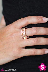 Always Look Up - Rose Gold - Paparazzi ring
