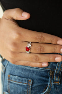 Always Adored-red-Paparazzi ring
