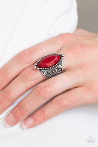 Amazon Adventure - red - Paparazzi ring
