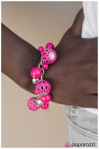 An Eiffel of Wonder - pink - Paparazzi bracelet