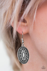 Ancient Wonders - Silver - Paparazzi earrings