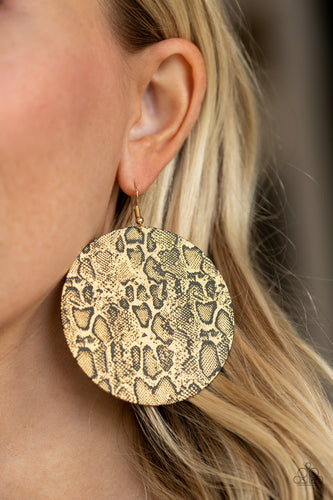 Animal Planet - gold - Paparazzi earrings