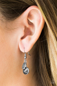 Another Day Another Chance to Sparkle - silver - Paparazzi earrings