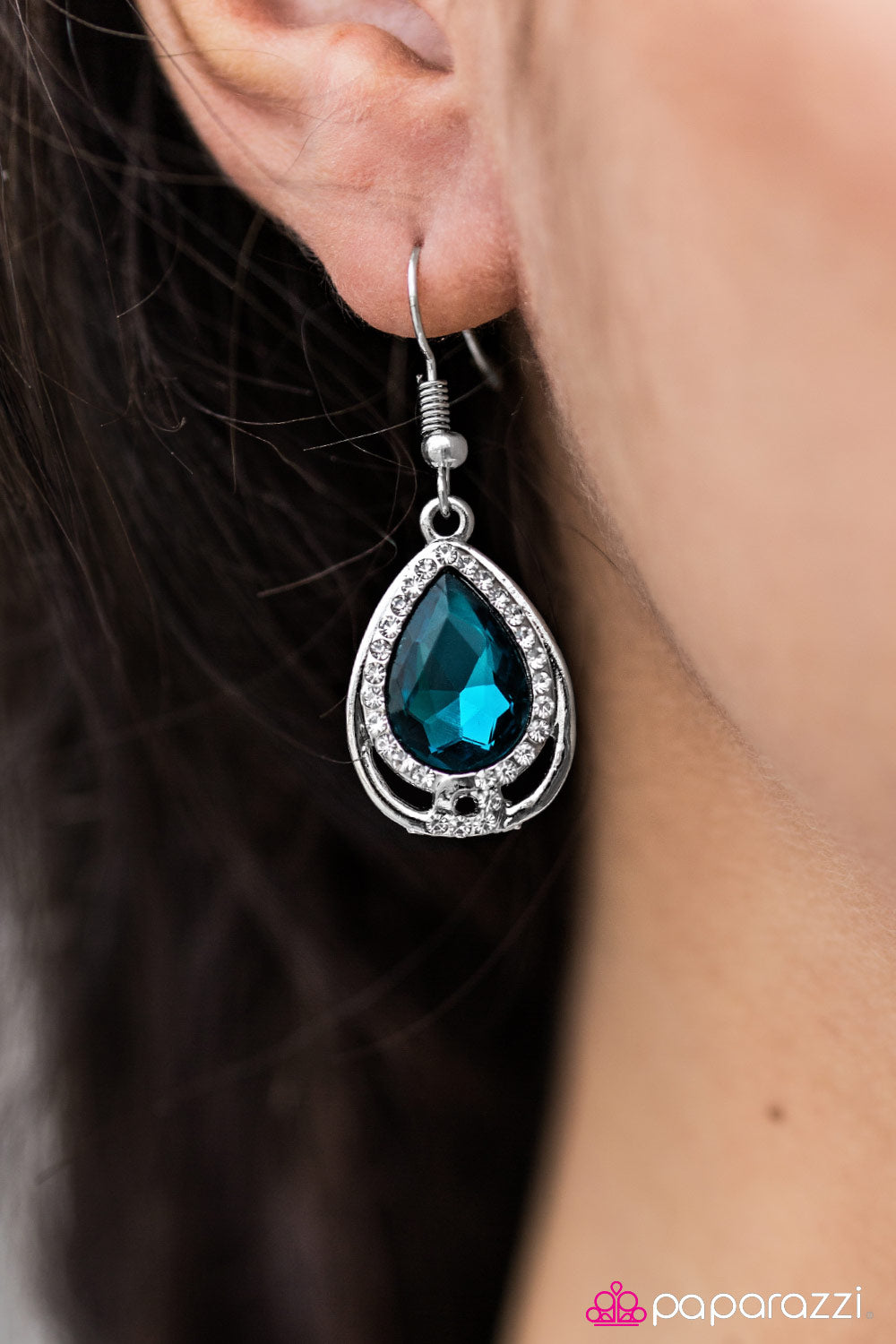 Anything Is POSH-ible! - Blue - Paparazzi earrings
