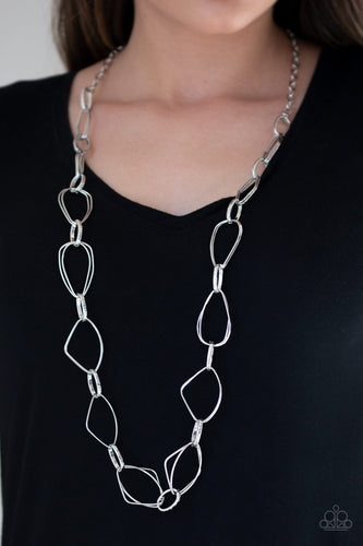 Attitude Adjustment-silver-Paparazzi necklace