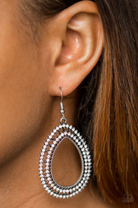 Award Show Sparkle - white - Paparazzi earrings