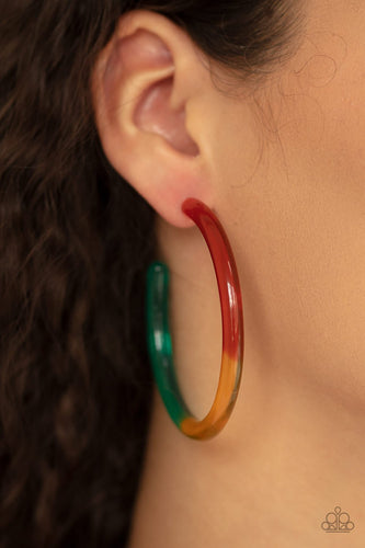 Awesome Aura - multi - Paparazzi earrings