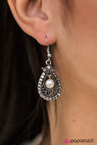 BELIZE In Me - White - Paparazzi earrings
