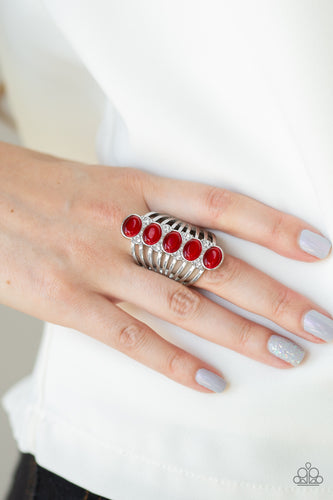Bling Your Heart Out - red - Paparazzi ring