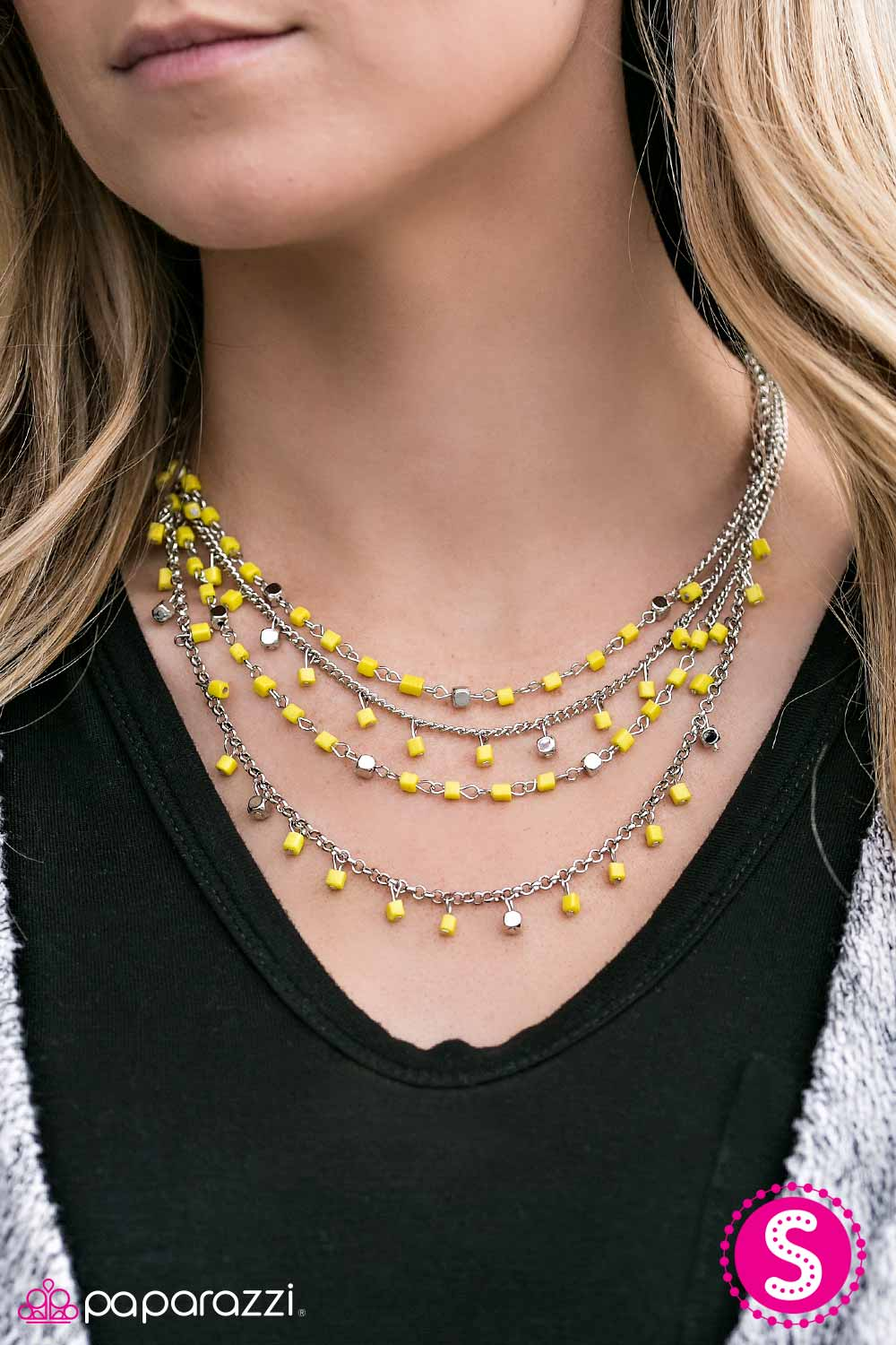 BLOCK Star - Yellow - Paparazzi necklace
