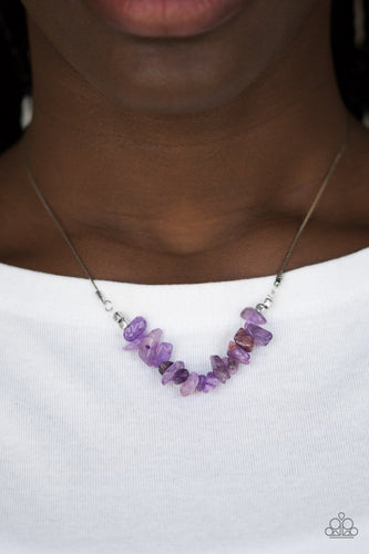 Back to Nature - purple - Paparazzi necklace