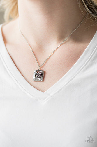 Back to Square One-silver-Paparazzi necklace
