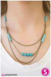 Backwoods Explorer - Blue - Paparazzi necklace