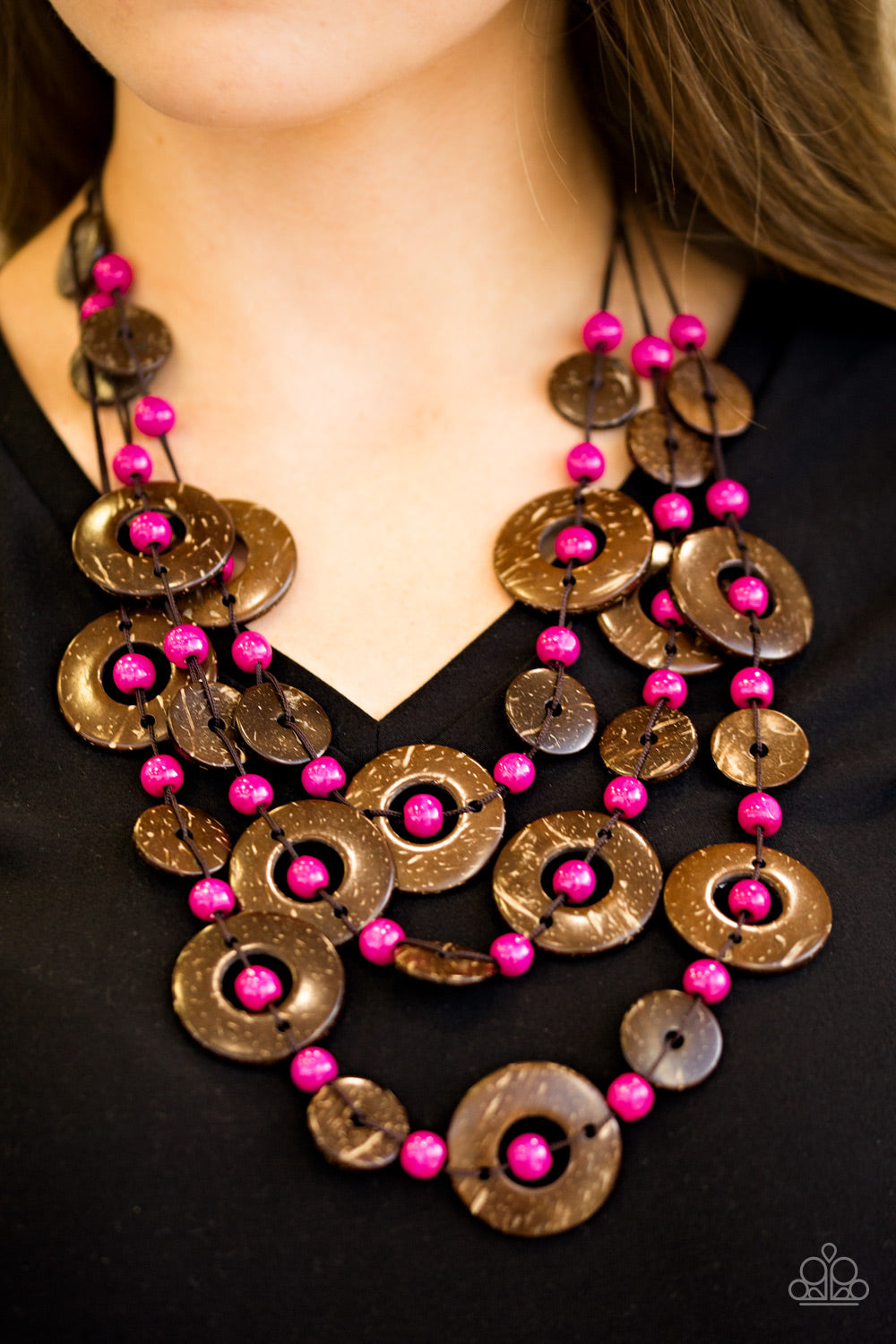 Bahama Bungalow - pink - Paparazzi necklace