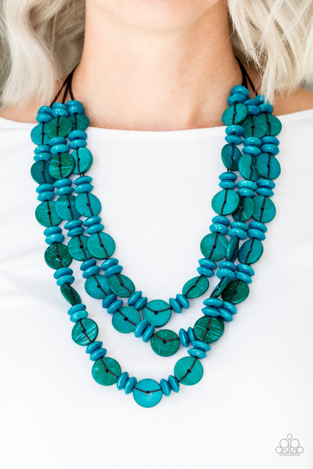Barbados Bopper - blue - Paparazzi necklace