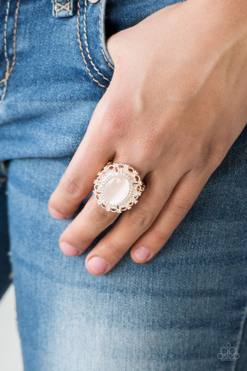 Baroque the Spell - rose gold - Paparazzi ring