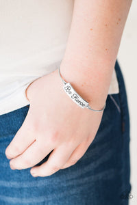 Be Fierce - silver - Paparazzi bracelet