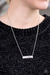 Be Strong - silver - Paparazzi necklace
