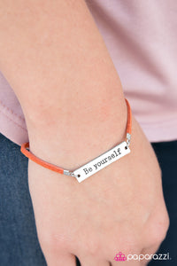 Be Yourself - Orange - Paparazzi bracelet