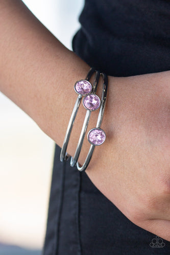 Be All You Can BEDAZZLE-pink-Paparazzi bracelet