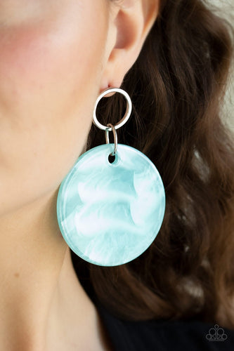 Beach Bliss-blue-Paparazzi earrings