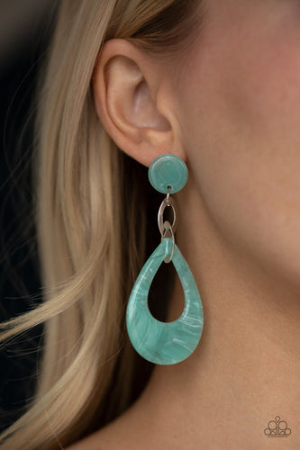 Beach Oasis-blue-Paparazzi earrings