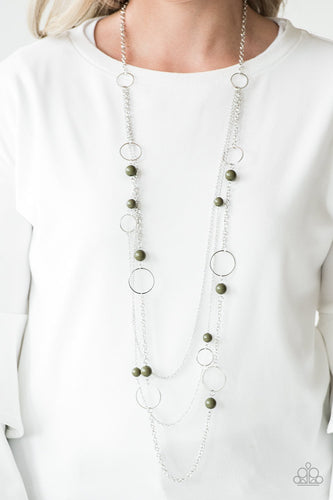Beachside Babe - green - Paparazzi necklace