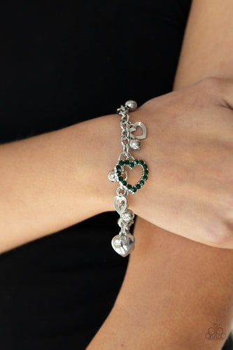 Beautifully Big-Hearted - green - Paparazzi bracelet
