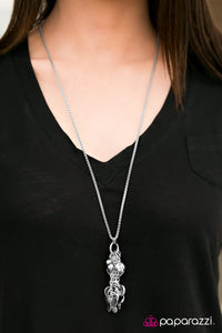 Bedtime Stories - Silver - Paparazzi necklace